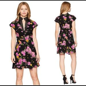 NWOT Free People Alora Black Floral Print Mini